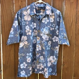 Ocean Pacific OP Men's Aloha Hawaiian Shirt Large